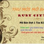 SỰ KIỆN MỞ BÁN CHUNG CƯ RUBY CITY CT3