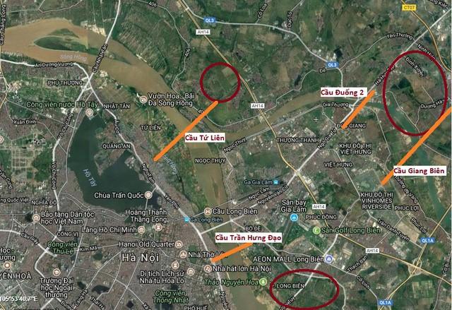 Dự án Long Biên đang triển khai nằm đa số tại trục giao thông lớn của quận