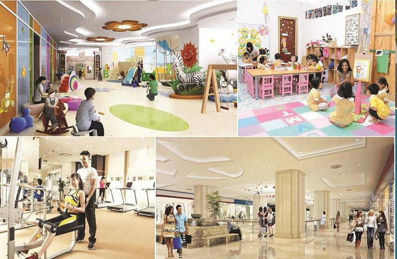 Trung tâm thương mại và nhà trẻ trong Mipec Rubik 360